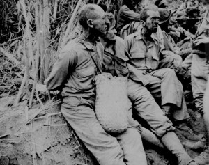 Prisoners Rest on Death March